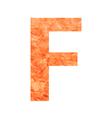 f land letter vector image