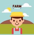 farmer farm person flat vector image