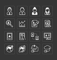 flat icons set of business finance technology vector image vector image