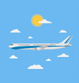flying plane in a flat style vector image vector image