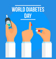 global diabetes day concept background flat style vector image