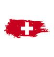 Grunge brush stroke with switzerland national