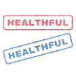 healthful textile stamps vector image vector image