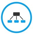 Hierarchy Flat Icon vector image vector image