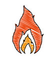 hot fire flame vector image vector image