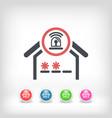 house alarm concept icon vector image