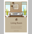 Interior design Modern living room banner 7 vector image