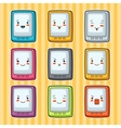 Kawaii doodle tablets set of gadgets vector image vector image