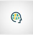 linear abstract brain logo template computer vector image vector image