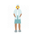 medical doctor or nurse character vector image