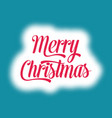 merry christmas card lettering vector image vector image