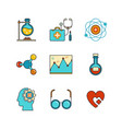 minimal lineart flat medical iconset chemical vector image vector image