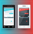Modern smartphone with calendar app on the screen vector image vector image
