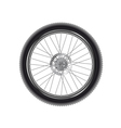 mountain bike wheel vector image vector image