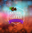 Natural coffee poster Typography design on a soft vector image vector image