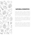 natural cosmetics banner template with place for vector image vector image
