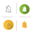 notifications off icon vector image vector image