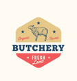 organic farm butchery abstract sign symbol vector image vector image