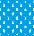 origami bunny pattern seamless blue vector image vector image