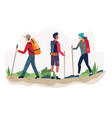 outdoor activity hiking vector image
