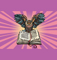 owl on an old book a symbol of wisdom and vector image vector image