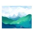 panorama mountain ridges vector image