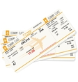 pattern of three boarding passes vector image vector image