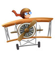 person flying plane white background vector image