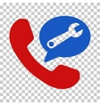 Phone Service Message Icon vector image