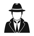 police detective icon simple style vector image