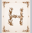 retro vintage letter in a frame vector image vector image