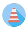 Road Cone single icon vector image vector image