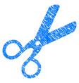 scissors grunge icon vector image