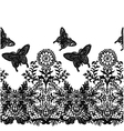 seamless butterfly lace fabric pattern vector image vector image