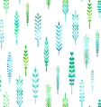 Seamless pattern of watercolor leaves vector image vector image
