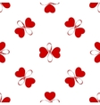 Seamless pattern with butterfly hearts Cute vector image vector image