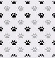 seamless pattern with paws footprints vector image vector image