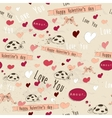 Seamless texture with love elements vector image vector image