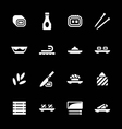 Set icons of sushi vector image
