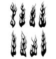 Set of black tribal flames for tattoo