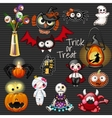 Set of devil characters from fabric vector image