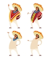 Set of Mexicans vector image