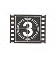 silhouette film strip part with countdown vector image