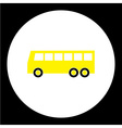 simple yellow bus public transpor icon eps10 vector image vector image