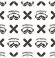 snowboard seamless background winter ski pattern vector image