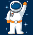 spaceman with stars in flat style vector image