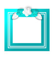 spring foliage and floral elements frame vector image vector image