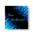 square banner with neon light vector image vector image