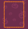 style halloween frame collection stock vector image vector image
