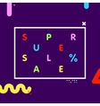 Super sale web shop discount banner vector image vector image
